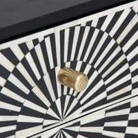 Buy Mackay Art Deco Inspired Black And White Bedside Table